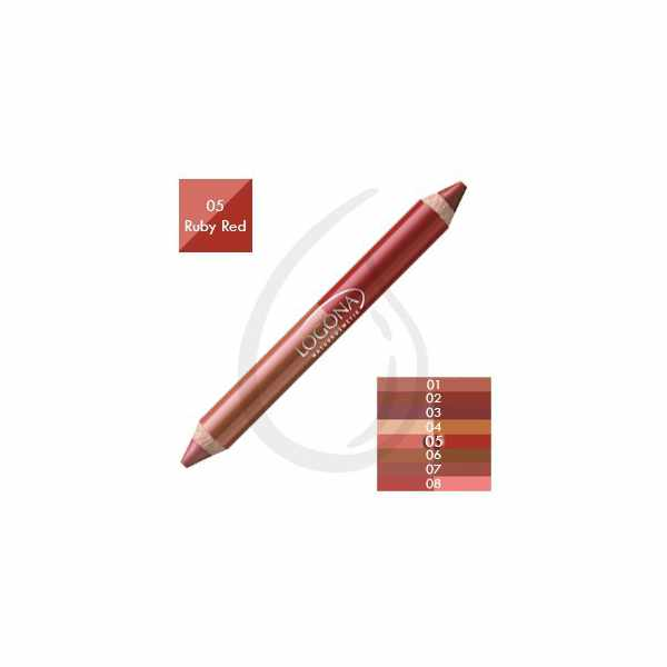 Lápiz de Labios Duo, Ruby Red 05, Logona