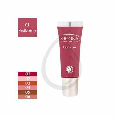 Brillo de labios, Gloss Redberry 01, Logona