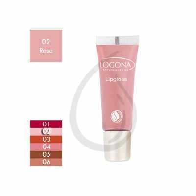 Brillo de labios, Gloss Rose 02, Logona