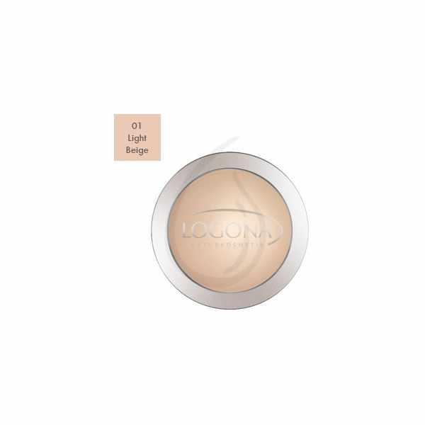 """Maquillaje en Polvo Compacto """"Light Beige 01"""", Logona"""