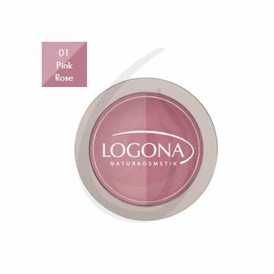 "Colorete en polvo Duo ""Pink + Rose 01"", Logona"