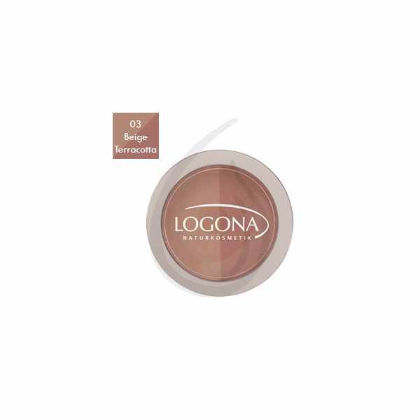 "Colorete en polvo Duo ""Beige + Terracotta 03"", Logona"