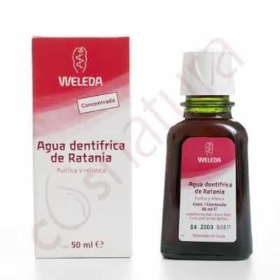Agua dentífrica de Ratania, 50 ml, Weleda