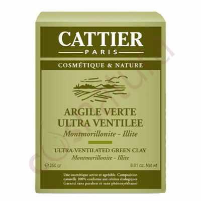 Arcilla Verde Ultraventilada, 250 gr, Cattier