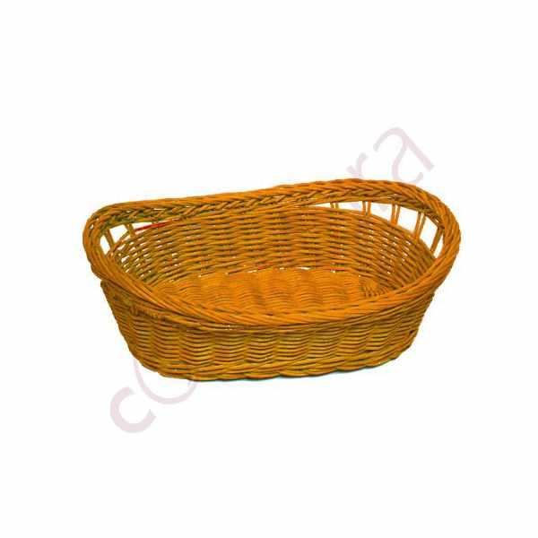 Canasto Mimbre 27x19x9 Naranja