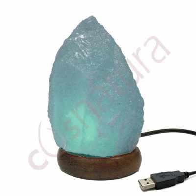 "Lámpara ""Cristal Sal de Himalaya"" Multicolor USB"