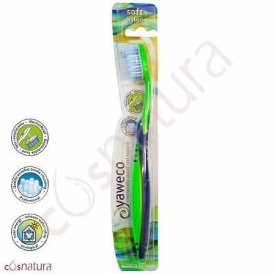Cepillo Dental Ecológico Nylon Suave Yaweco Va