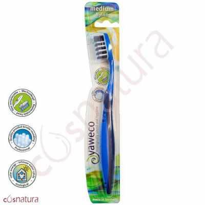 Cepillo Dental Ecológico Nylon Medio Yaweco AA