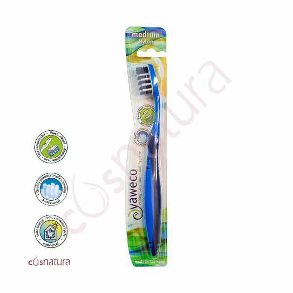 Cepillo Dental Ecológico Nylon Medio Yaweco AA