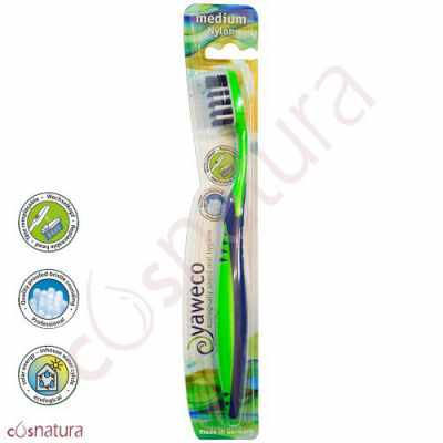 Cepillo Dental Ecológico Nylon Medio Yaweco VA