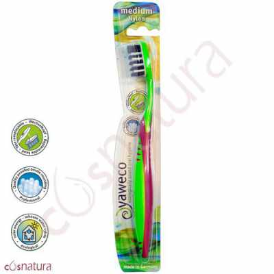 Cepillo Dental Ecológico Nylon Medio Yaweco VR