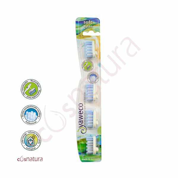 Recambio Cepillo Dental Nylon Suave Yaweco