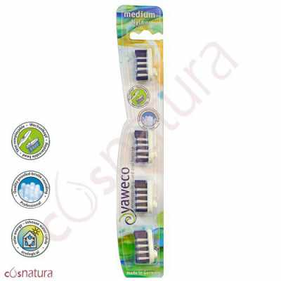 Recambio Cepillo Dental Nylon Medio Yaweco