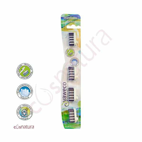 Recambio Cepillo Dental Nylon Medio Yaweco