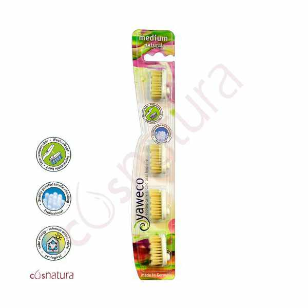 Recambio Cepillo Dental Natural Medio Yaweco