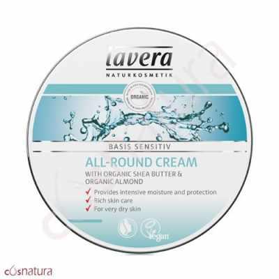 Crema Cara y Cuerpo Basis Sensitiv Karité & Almendras Bio Lavera