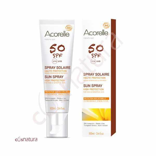 Spray Solar Cara & Cuerpo SPF 50 Acorelle 100 ml