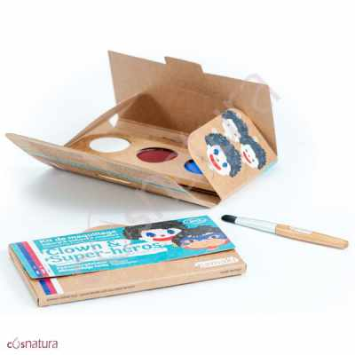 "Kit de Maquillaje Infantil ""Payaso & Superhéroe"" Namaki"