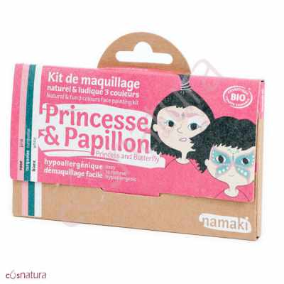 "Kit de Maquillaje Infantil ""Princesa y Mariposa"" Namaki"