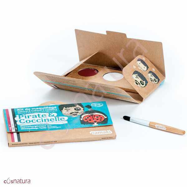 "Kit de Maquillaje Infantil ""Pirata & Mariquita"" Namaki"