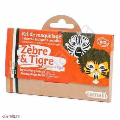 """Kit de Maquillaje Infantil """"Cebra & Tigre"""" Namaki"""