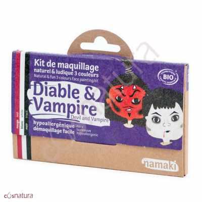 """Kit de Maquillaje Infantil """"Diablo & Vampiro"""" Namaki"""