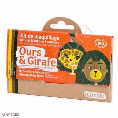 "Kit de Maquillaje Infantil ""Oso & Jirafa"" Namaki"