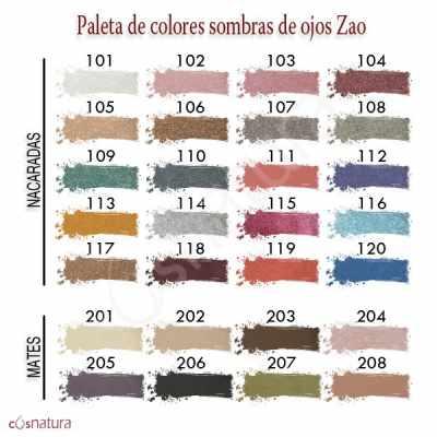 Paleta Colores Sombras de Ojos Zao