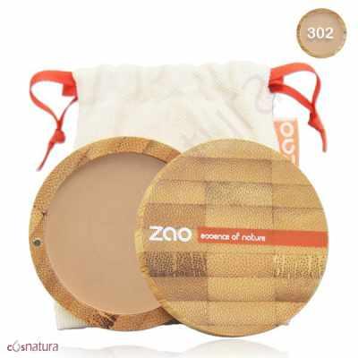 Maquillaje en Polvo Compacto 302 Beige Orange Zao