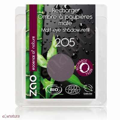 Recarga Sombra de Ojos Mate 205 Violet Sombre Zao