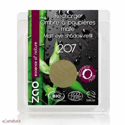 Recarga Sombra de Ojos Mate 207 Vert Olive Zao