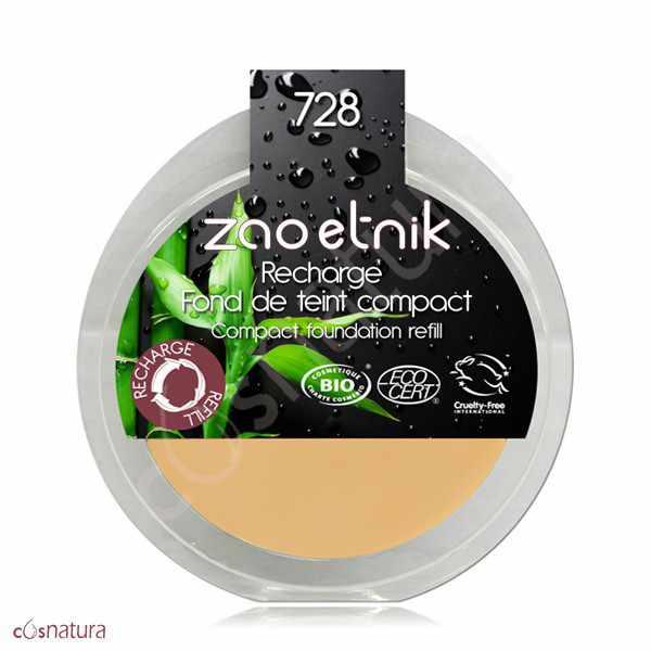 Recarga Maquillaje Compacto 728 Ocre Claro Zao