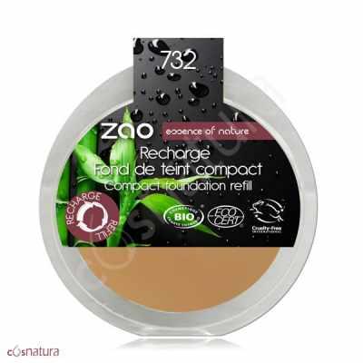Recarga Maquillaje Compacto 732 Petale de Rose Zao