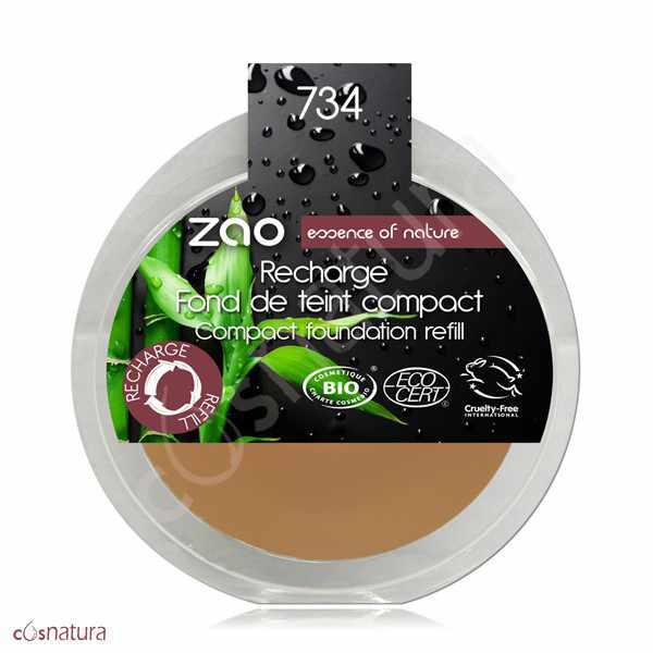 Recarga Maquillaje Compacto 734 Capuccino Zao