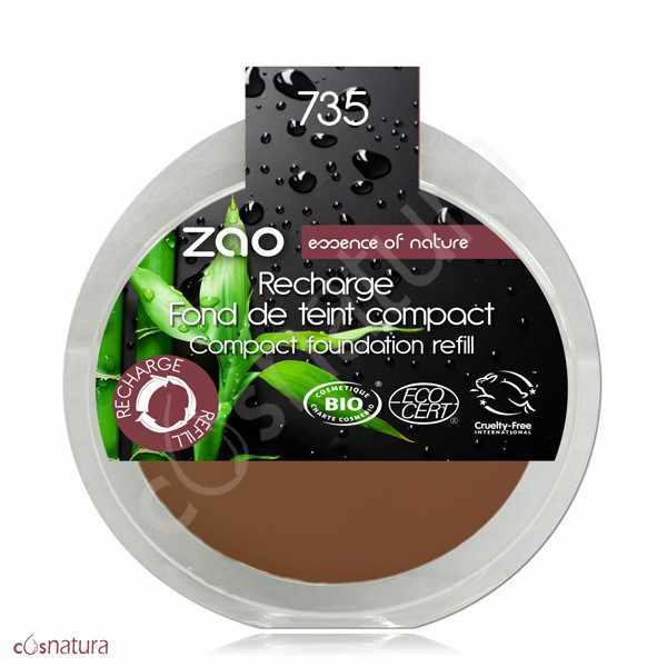 Recarga Maquillaje Compacto 735 Chocolat Zao
