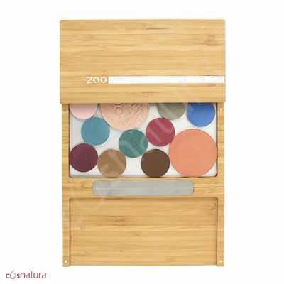 Estuche Maquillaje Bamboo Maxi Box Zao abierto