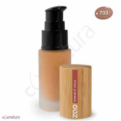 Maquillaje Fluido 703 Pétale de Rose Zao