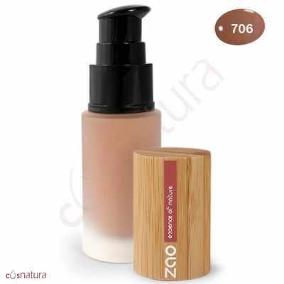 Maquillaje Fluido 706 Chocolat Zao