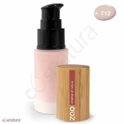 """Maquillaje Fluido 712 Rosé Claro """"Etnic"""" Zao"""