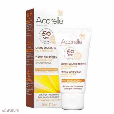 Crema Solar Color Apricot SPF 50 Acorelle