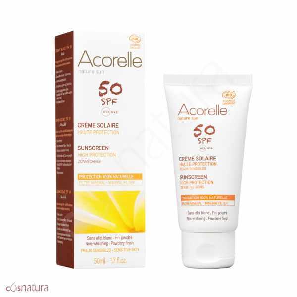 Crema Solar Facial SPF 50 Acorelle