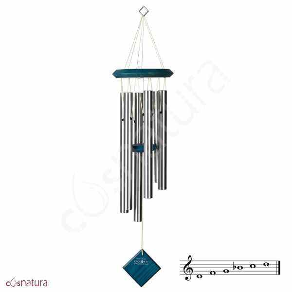 Campana Musical Plutón Plata Azul 68 cm