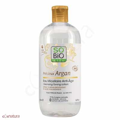 Agua Micelar Antiedad Précieux Argan So'Bio Étic