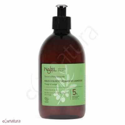 Jabón de Alepo Líquido 5% Najel 500 ml