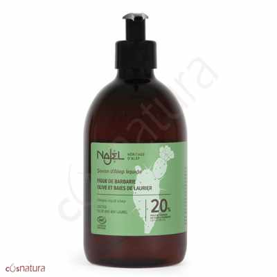 Jabón de Alepo Líquido y Aceite Higo Chumbo Najel 500 ml