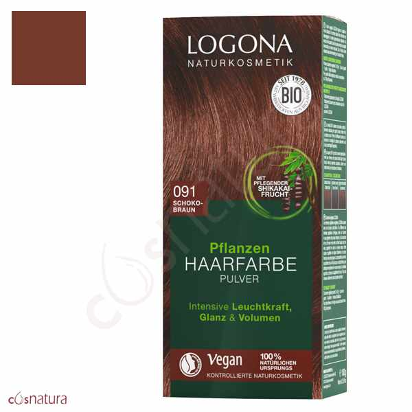 Colorante Vegetal 091 Castaño Chocolate Logona
