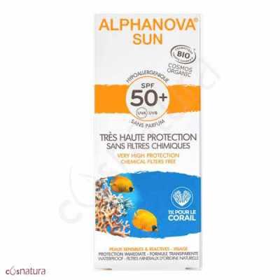 Crema Solar Hipoalergénica SPF50+ Alphanova Sun