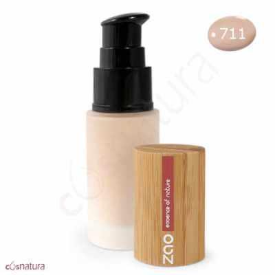 "Maquillaje Fluido 711 Sable Claro ""Etnic"" Zao"