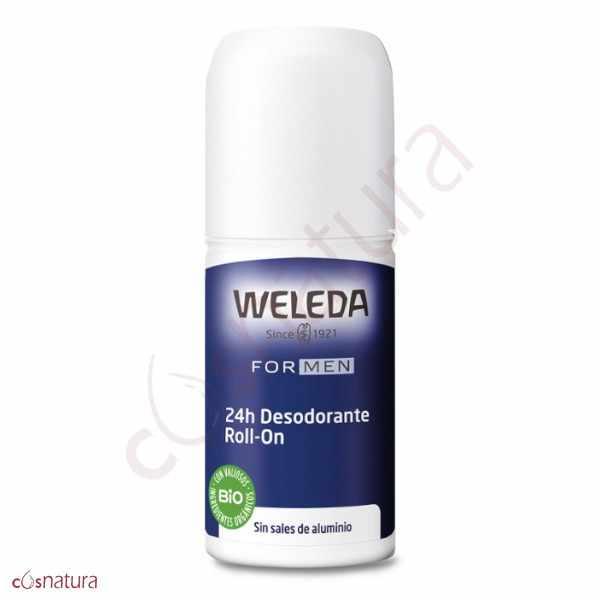 Desodorante Roll-On 24h de Men Weleda