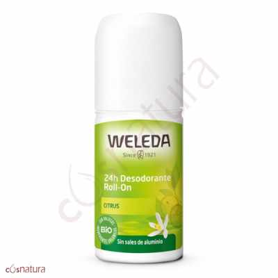 Desodorante Roll-On 24h de Citrus Weleda